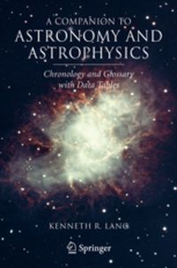 A COMPANION TO ASTRONOMY AND ASTROPHYSICS -  Lang