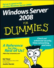 WINDOWS SERVER 2008 FOR DUMMIES - Tittel Ed