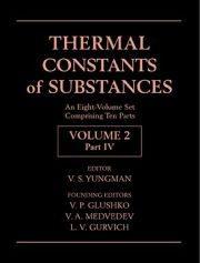 THERMAL CONSTANTS OF SUBSTANCES, 8 VOLUME SET - S. Yungman V.