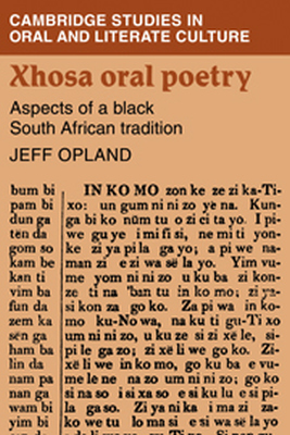 XHOSA ORAL POETRY - Opland Jeff