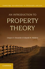 AN INTRODUCTION TO PROPERTY THEORY - S. Alexander Gregory