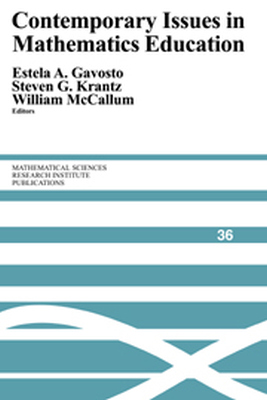 CONTEMPORARY ISSUES IN MATHEMATICS EDUCATION - A. Gavosto Estela