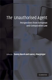THE UNAUTHORISED AGENT - Busch Danny