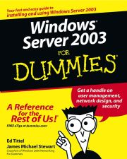 WINDOWS SERVER 2003 FOR DUMMIES - Tittel Ed