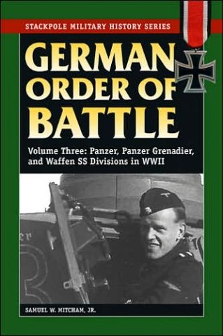 GERMAN ORDER OF BATTLE VOLUME THREE: PANZER