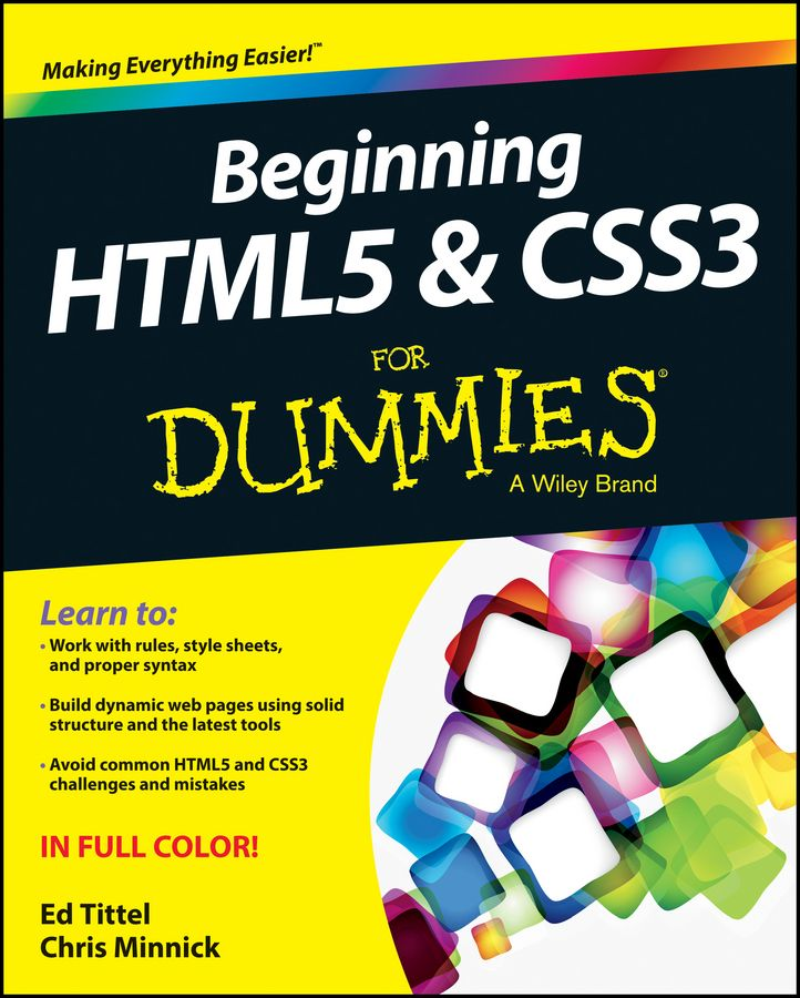 BEGINNING HTML5 AND CSS3 FOR DUMMIES - Tittel Ed
