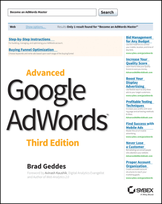 ADVANCED GOOGLE ADWORDS - Geddes Brad