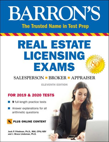 BARRON'S REAL ESTATE LICENSING EXAMS WITH ONLINE DIGITAL FLASHCARDS - P. Friedman Jack