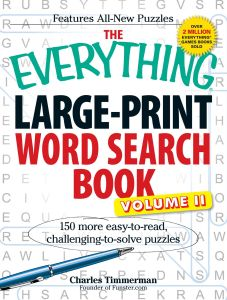 THE EVERYTHING LARGE-PRINT WORD SEARCH BOOK, VOLUME II - Timmerman Charles