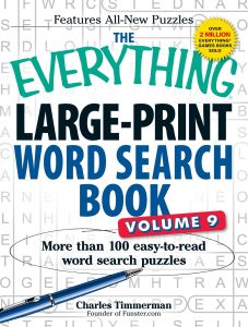 THE EVERYTHING LARGE-PRINT WORD SEARCH BOOK, VOLUME 9 - Timmerman Charles