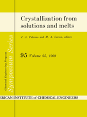 CRYSTALLIZATION FROM SOLUTIONS AND MELTS -  Khamskii