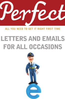 PERFECT LETTERS AND EMAILS FOR ALL OCCASIONS - Davidson George