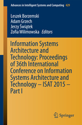 ADVANCES IN INTELLIGENT SYSTEMS AND COMPUTING -  Borzemski