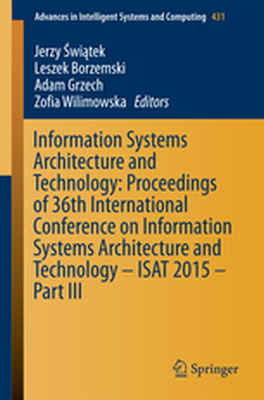 ADVANCES IN INTELLIGENT SYSTEMS AND COMPUTING -  Witek
