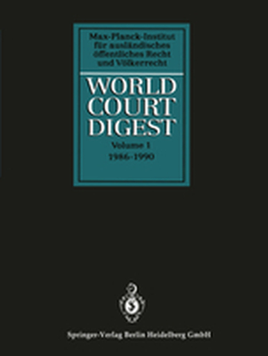 WORLD COURT DIGEST - Rainer Kokott Julian Hofmann