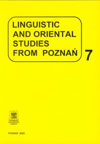 LINGUISTIC AND ORIENTAL STUDIES FROM POZNAŃ VOL.7