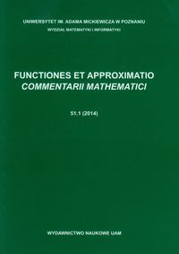 FUNCTIONES ET APPROXIMATIO COMMENTARII MATHEMATICI 51.1